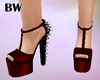 Black Red Spike Heels