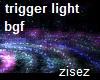 dj lights fx blue green