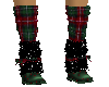 Plaid Red Boots