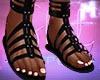♚ Black Sandals
