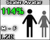 Scaler Avatar M - F 114%