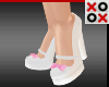 Chunky Pumps with Pink