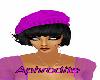 Hat purple & black hair