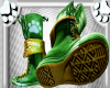 [Anthro]Green/Gold Boots