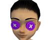 Purple button eyes