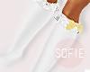 ❀ kids whte&gld socks
