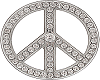 Diamond Peace Sign