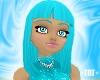 Keiko Hair in Aqua