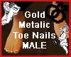 GoldMetalic ToeNail MALE