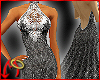 Halter Gown Lace/Silvery