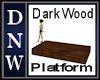 NW Dark Wood Platform
