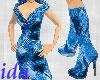 ida Blue Dress w boots