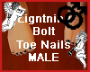 Lightning Bolt Toe Nails