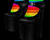 B! Black Heels Rainbow
