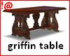!@ Antique griffin table