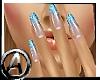 (A) Ombre Nails Aqua