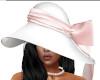[B] White Pink Brim Hat