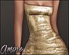 $ Gold Mini Dress  L