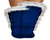 Fur Boots Blue White Fur
