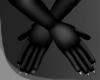 .Black. long gloves