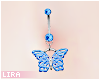 Blue Butterfly Piercing