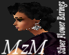 MzM Silver Flower Earing