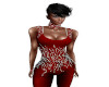 TEF RED JEWELED TOP