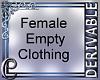 Female Empty Clothing