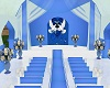 blue&white wedding room