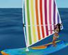 Animated Sail surf board