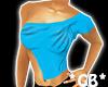 Blue Shoulder Cut Top