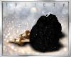 J! Black rose earrings