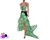 Peacock Feather gown