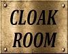 CLOAK ROOM SIGN
