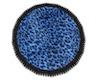 Fur Rug round blue