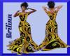 [B] Yellow-Black Gown