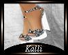 K:Flowers White Sandals