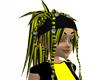 Black Yellow Rikku Hair