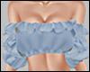 E* Blue Ruffles Top