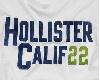 white hollister tee