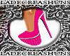 Swag Velour Pink Heels