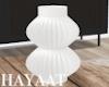Fluted Vase - White