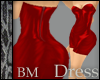 Leather Red Minidress BM