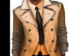 ⚡ Orange Trench Coat