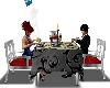 silver couple table