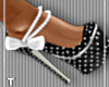 BlackWhitePolka Dot Heel