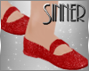 Red Glittery Kids Shoes