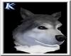 ~K~Gray Wolf head