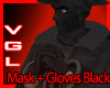 Mask + Gloves Black