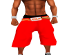 Red Polo Baggy Shorts